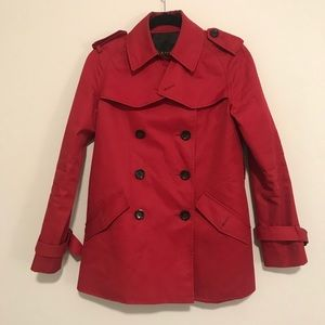Coach Mid Length Trench Red Size XS